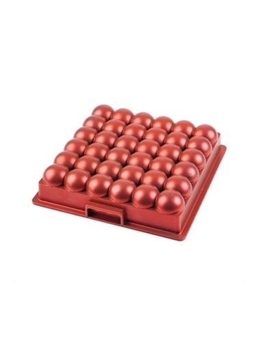 Acar Acar XDD-11739 Atom Döküm Granit Kek Kalıbı Kırmızı Kırmızı